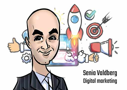 Cartoon Artwork for Digital Marketing