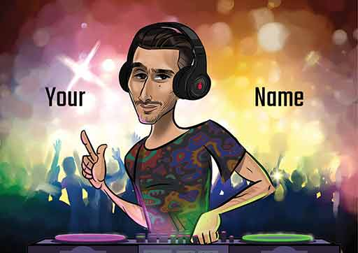 Cartoon Artwork for Dj