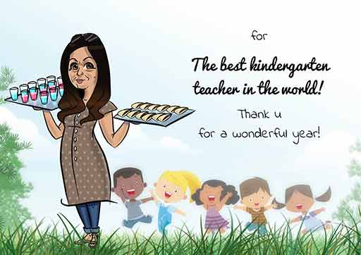 Cartoon Artwork for Kindergarten Teachers