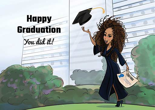 Cartoon Artwork for University graduates