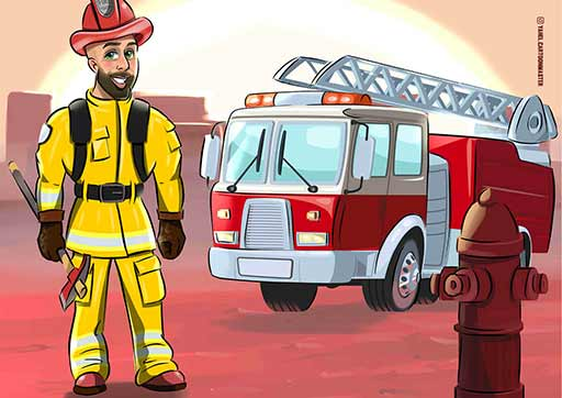 cartoon artwork- FireMan