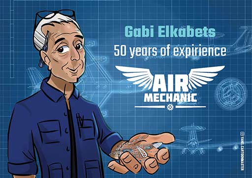 cartoon art work- Air Mechanic