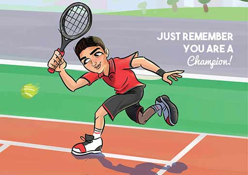 Cartoon Artwork for Tennis Lovers