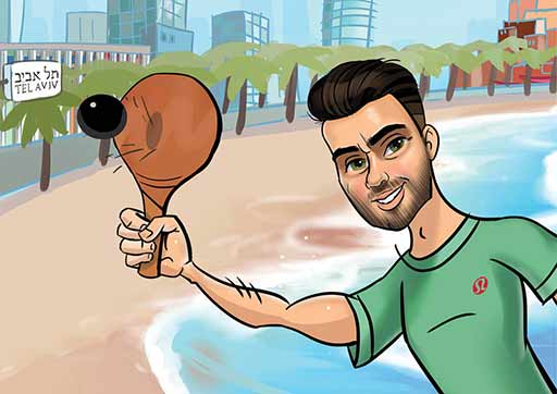 Cartoon ArtWork for Beach Games