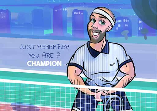 Cartoon Artwork Tennis Lovers