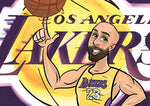 Cartoon Artwork for Lakers Fans