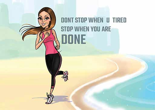 Cartoon ArtWork for Beach Jogging