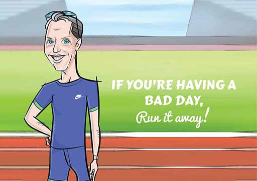 Cartoon ArtWork For Athletics