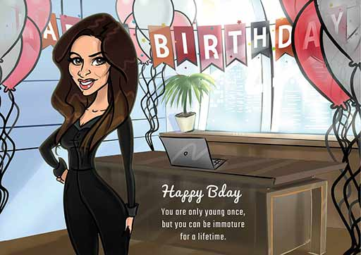 Cartoon Artwork for Office Birthdays
