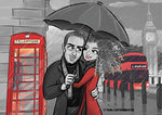 Cartoon Artwork for London Vacation