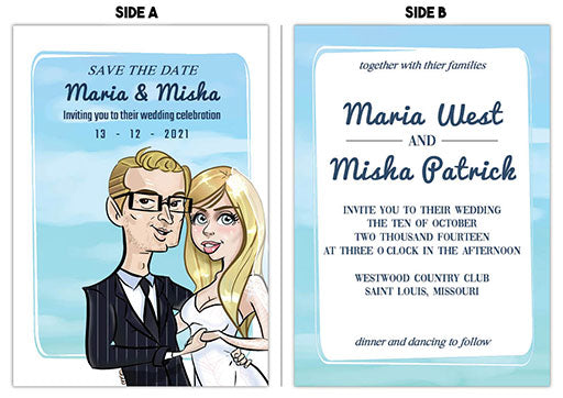 Cartoon Artwork for Wedding invitation