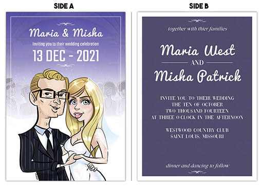 Cartoon Artwork Wedding