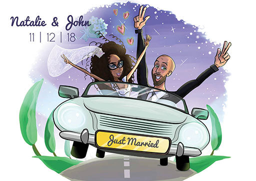 Cartoon Artwork for Wedding