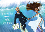 cartoon art work for wedding