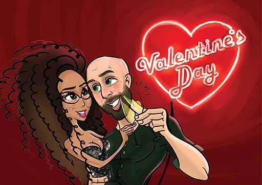 Cartoon Artwork for Valentine's Day