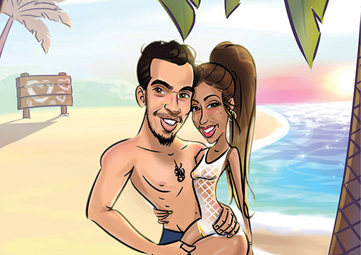 Cartoon Artwork for Just for some fun in the beach