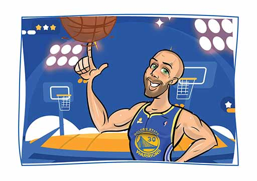 Cartoon ArtWork for a Basketball Player