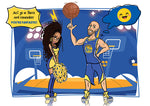 Cartoon Artwork for BasketBall Lovers
