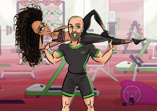 Cartoon Artwork for Gym Workout