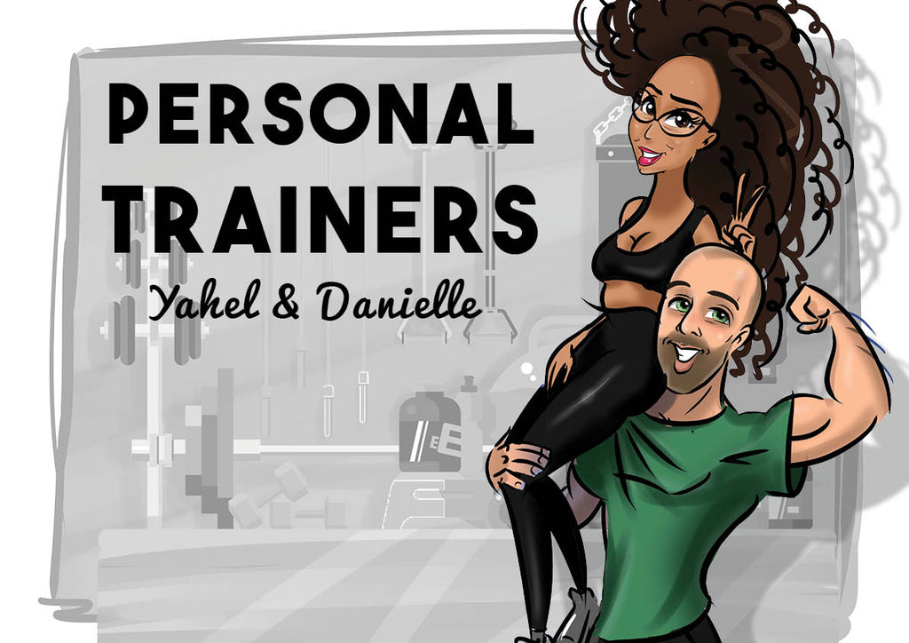 Cartoon Artwork for Trainers