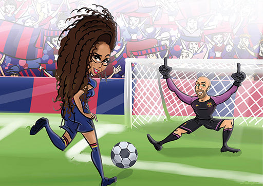 Cartoon Artwork soccer Lovers