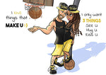 Cartoon Artwork Street Ball Lovers