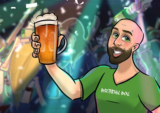 Cartoon Artwork for Beer Lovers