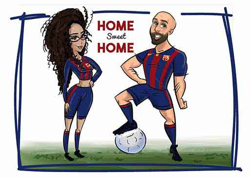 cartoon artwork - Barca Fans