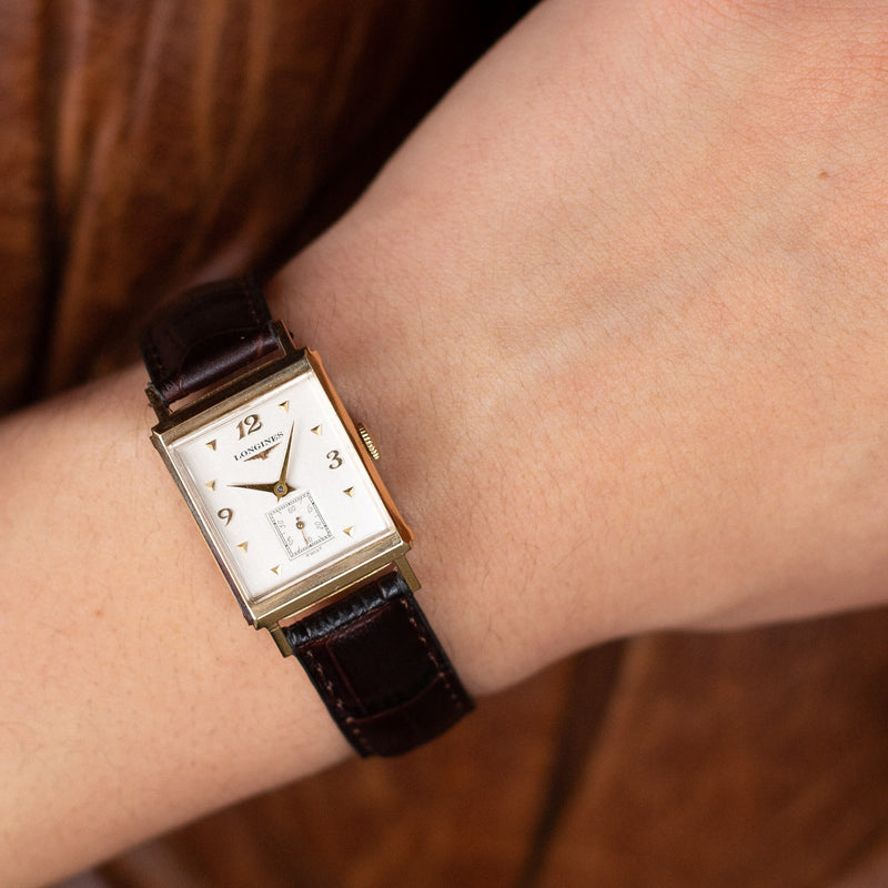 Yellow Gold Vintage Longine wristwatch