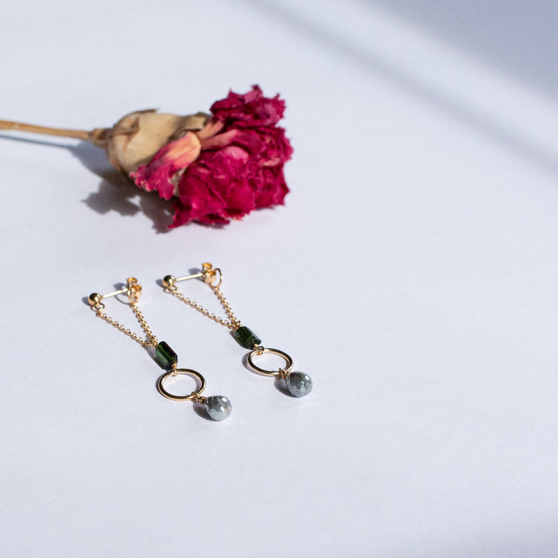 Gold-filled Tourmaline Earrings