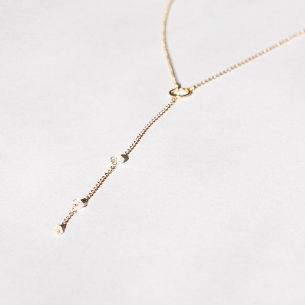 "Gold-filled ""Herkimer Diamond"" Necklace*"