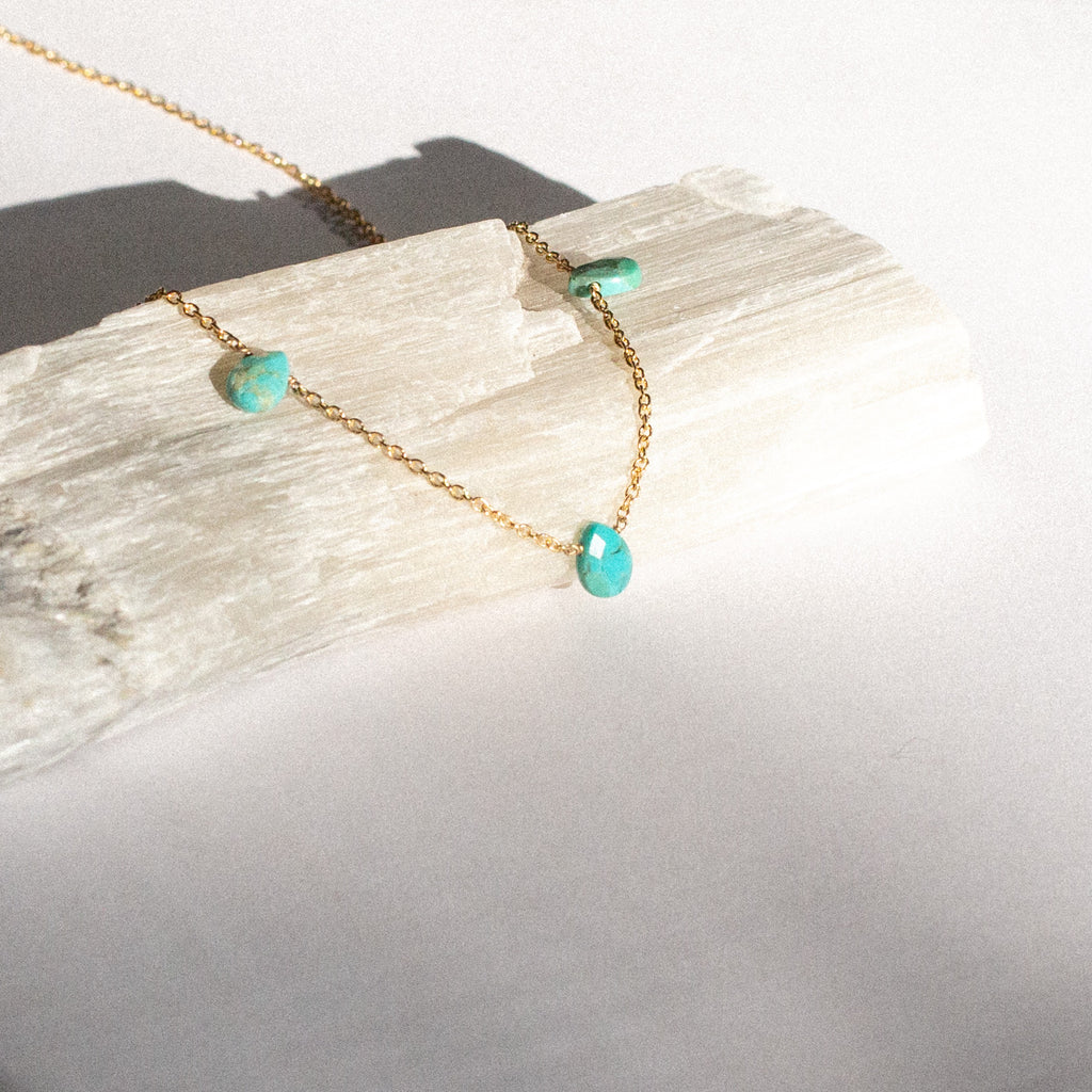 Trio Pear Shape Turquoise Necklace