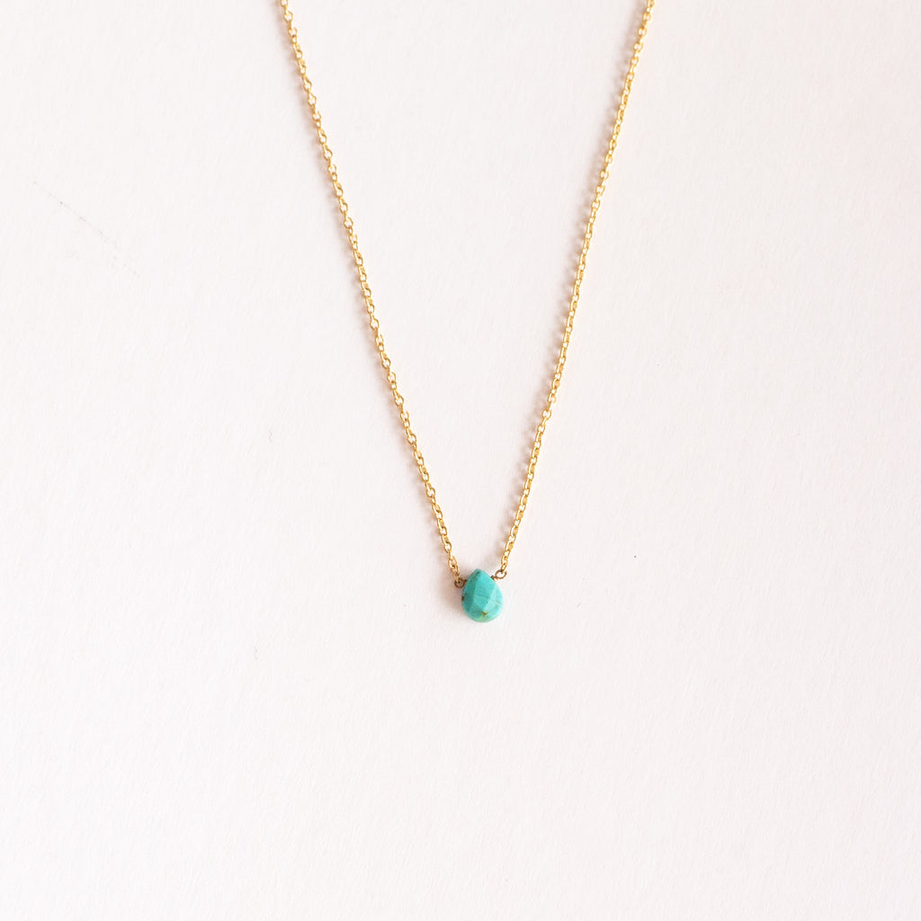 Pear Shape Turquoise Necklace