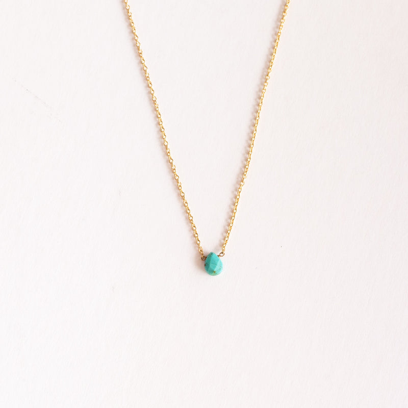 Pear Shape Turquoise Necklace - available by special order
