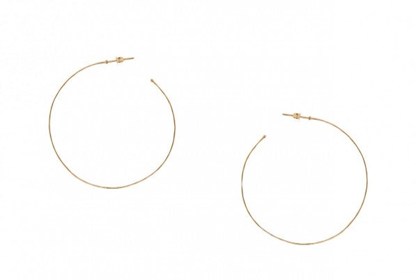 Hammered Rose Gold Hoop Earrings