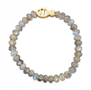 Labradorite Fish Stretch Bracelet