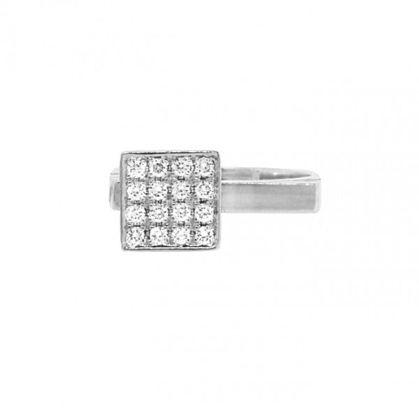Stackable White Gold Diamond Ring - preowned