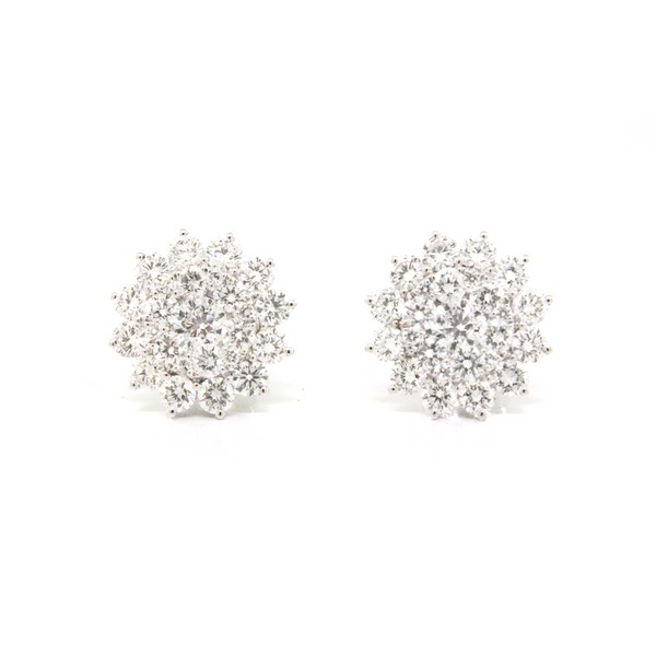 Diamond Cluster Stud Earrings - available on special order