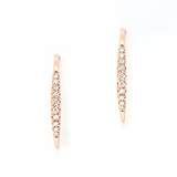 Rose Gold and Diamond Wire Earrings - available on special order