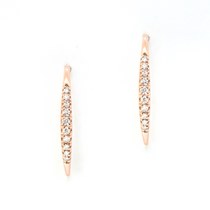 Rose Gold and Diamond Wire Earrings