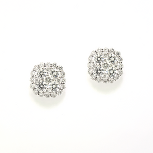Cluster Diamond Stud Earrings - available on special order