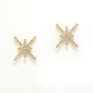 Criss Cross Diamond Earrings