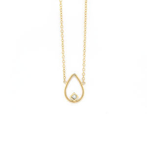 Open Pear Diamond Necklace