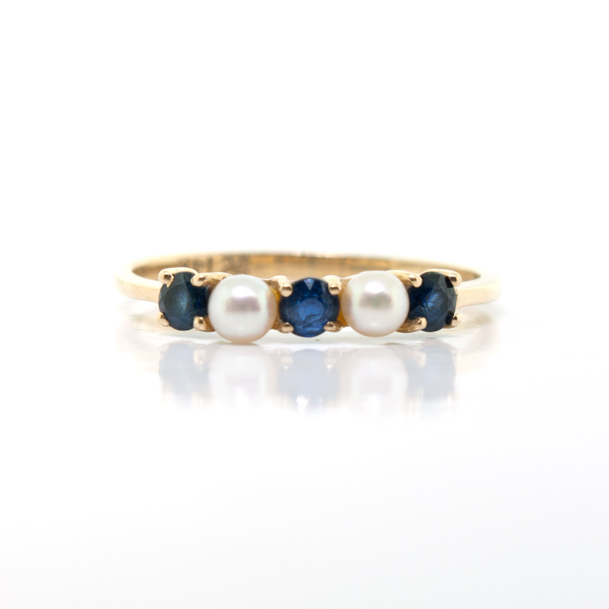 Tiffany Pearl & Sapphire Ring