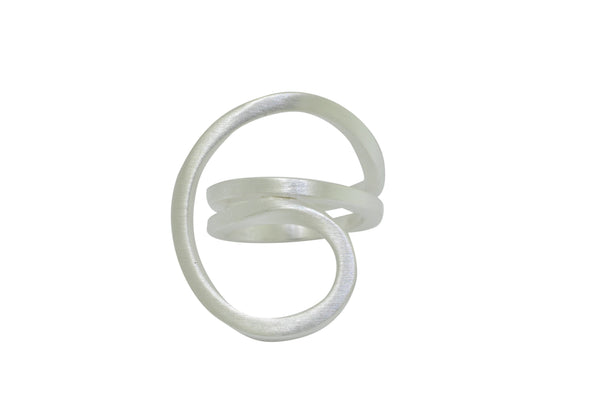 Sterling Silver Large Swirl Ring