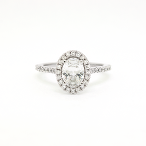 Oval Engagement Ring (setting only)
