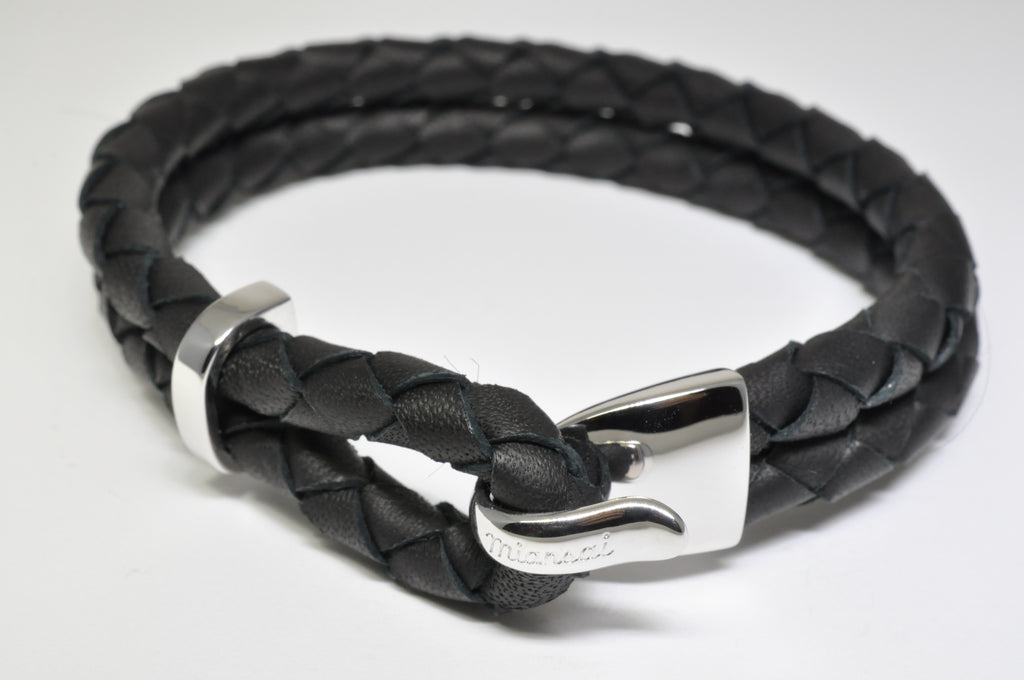 Beacon Leather Sterling Silver Bracelet