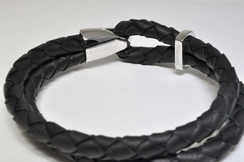 Beacon Leather Sterling Silver Bracelet - available on special order