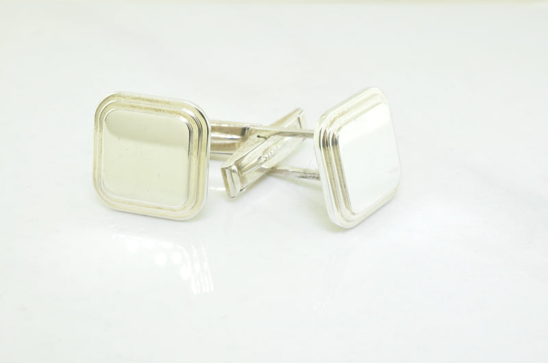 Sterling Silver Square Cufflinks