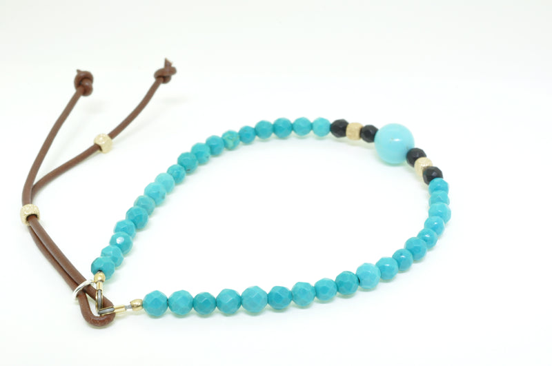 Men's Arizona Turquoise Beaded Bracelet